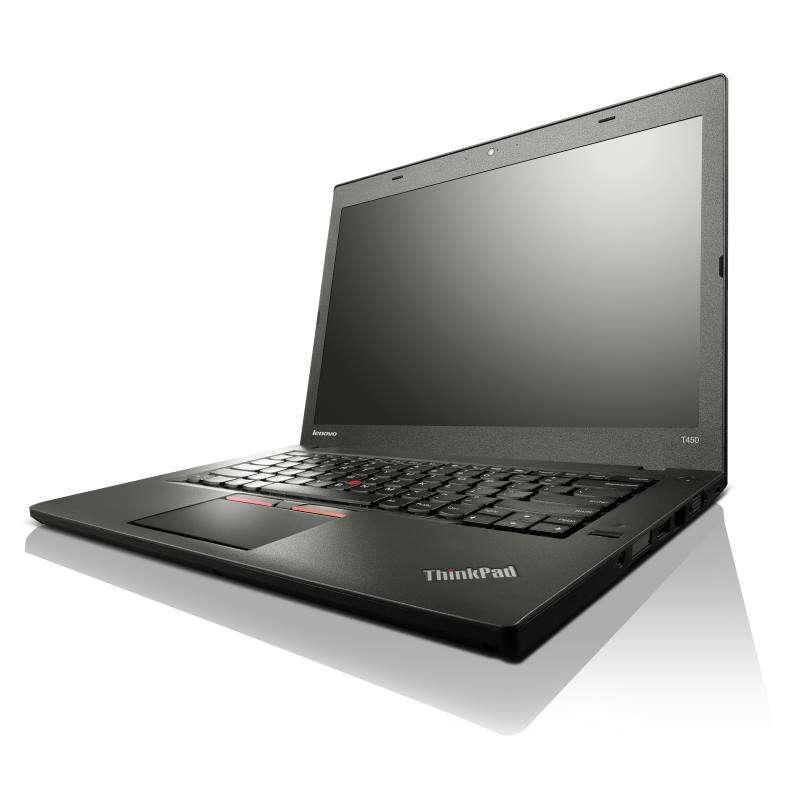Notebook Lenovo ThinkPad T450 Notebook, i7-5600U, 8GB, SSD 256GB, 14HD+, Intel HD 5500, W7P+W8.1P, 3yOnSite 20BU0001MC
