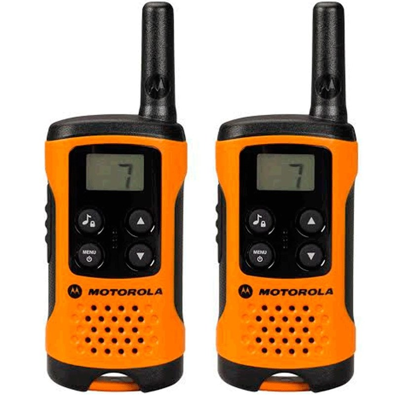 Vysílačka Motorola TLKR T41 oranžová Vysílačka, dosah až 4 km, 2 vysílačky v balení, oranžová barva MT00025