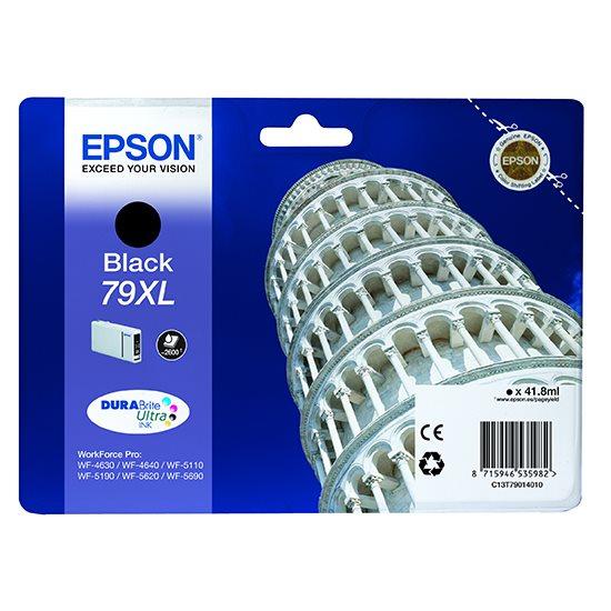 Epson inkoustová náplň/ C13T79014010/ WF-5620/ WF-5690/ 41.8ml/ XL Černá