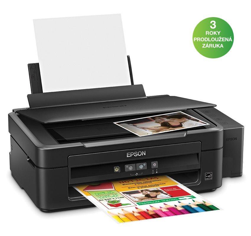 Multifunkční tiskárna Epson L220 Barevná multifunkční inkoustová tiskárna, A4, 27/15ppm, 5760 x 1440, 4 barvy, print+scan+copy, USB C11CE56401