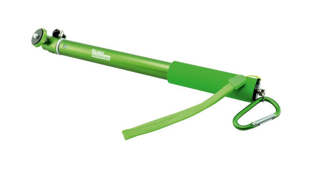 Prodlužovací tyč pro kamery Rollei Arm Extension L Prodlužovací tyč pro kamery, Rollei Actioncam, s kulovou hlavou, délka 30-95 cm, zelená 21531