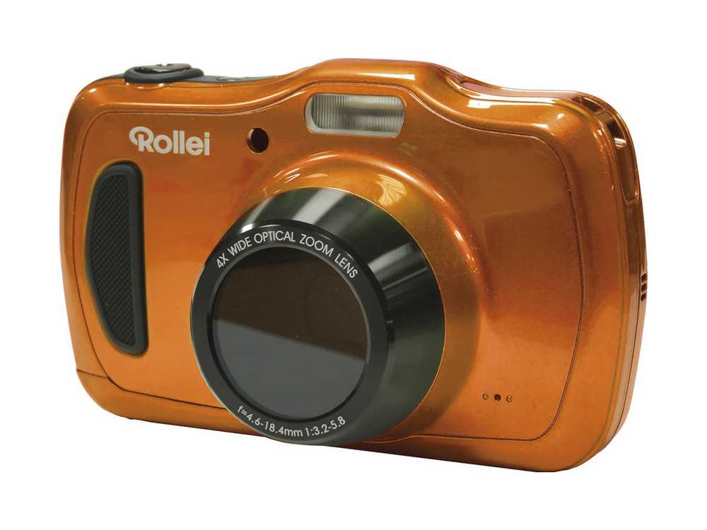 Digitální fotoaparát Rollei Sportsline 100 oranžov Digitální fotoaparát, 20 MPx, 4x zoom, 2.7 LCD, voděodolný, HD video, oranžový 10054