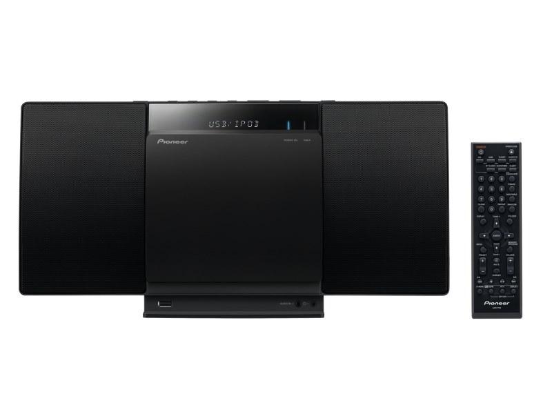 Multimediální centrum PIONEER X-SMC01BT-K Multimediální centrum, slim, dokovací stanice pro iPod a iPad, CD, Bluetooth, USB, FM, 2x 10W, černý X-SMC01BT-K