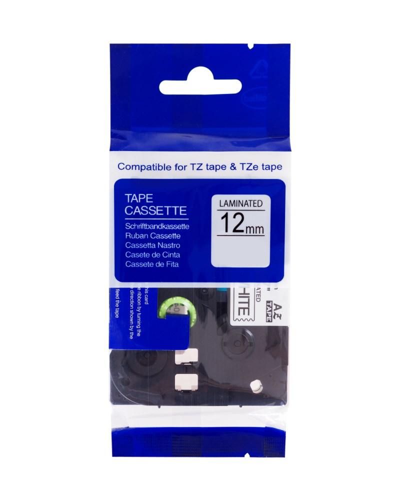 Páska PrintLine kompatibilní s Brother TZE-131 Páska, pro tiskárny štítků, kompatibilní s Brother TZE-131, TZ-131, 12mm, černý tisk/průsvitný podklad