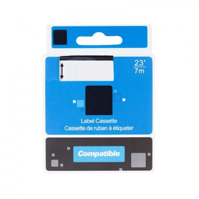 Páska PrintLine kompatibilní s DYMO 45020 Páska, pro tiskárny štítků, kompatibilní s DYMO 45020, S0720600, 12 mm, 7 m, bílý tisk/transparentní podklad, D1