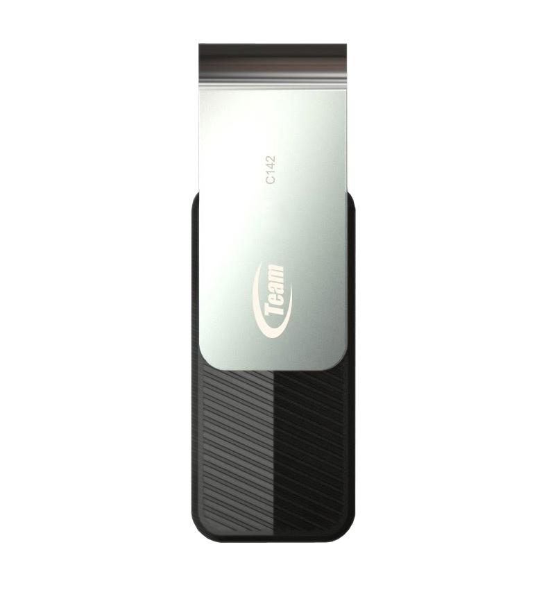 Flash disk TEAM C142 16 GB Flash disk, 16 GB, USB 2.0 disk, černý TC14216GB01