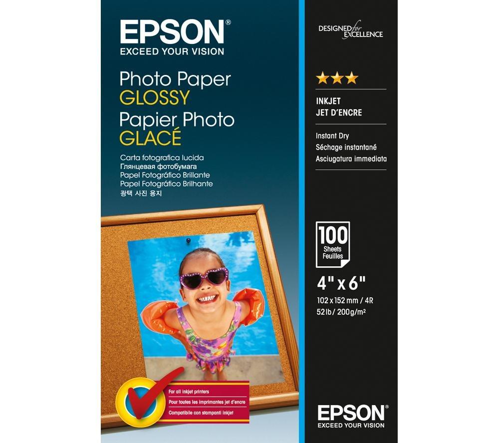 Fotopapír EPSON Photo Paper Glossy 10 x 15 cm Fotopapír, 10x15 cm, lesklý, 100 ks C13S042548