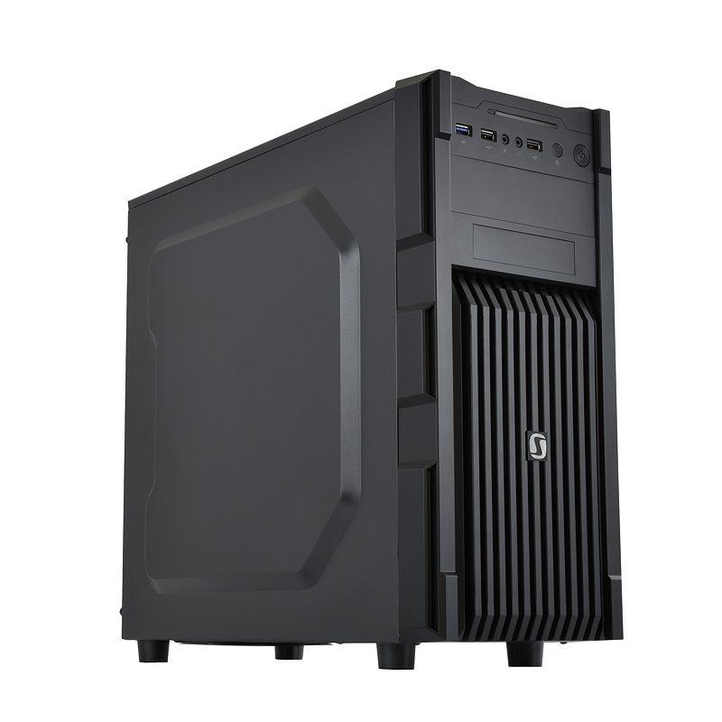 Skříň SilentiumPC Gladius M20 Skříň, Middle Tower, USB 3.0, bez zdroje, černá SPC125