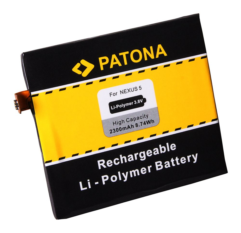 Baterie PATONA kompatibilní s LG BL-T9 Baterie, pro mobilní telefon LG Nexus 5 D820, nahrazuje BL-T9, 2300mAh, 3.8V, Li-Pol PT3090