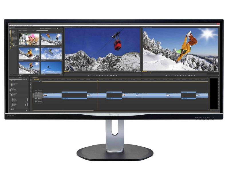 LED monitor PHILIPS BDM3470UP 34 LED monitor, 3440x1440, 40mil:1, 5ms, DP, HDMI, MHL, 4xUSB, pivot, repro BDM3470UP/00