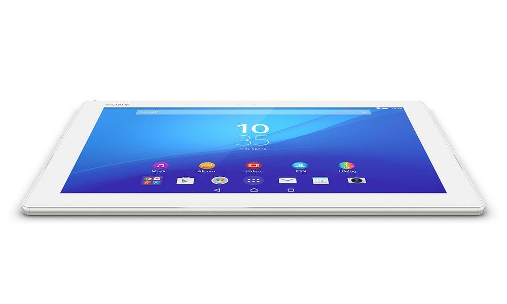 Tablet Sony SGP712 Xperia Z4 bílý Tablet, 10.1, OctaCore 2GHz, 3GB RAM, 32GB, 8.1MPix/ 5.1MPix, WiFi, vodotěsný, prachotěsný, Android 5.0, bílý 1295-4492