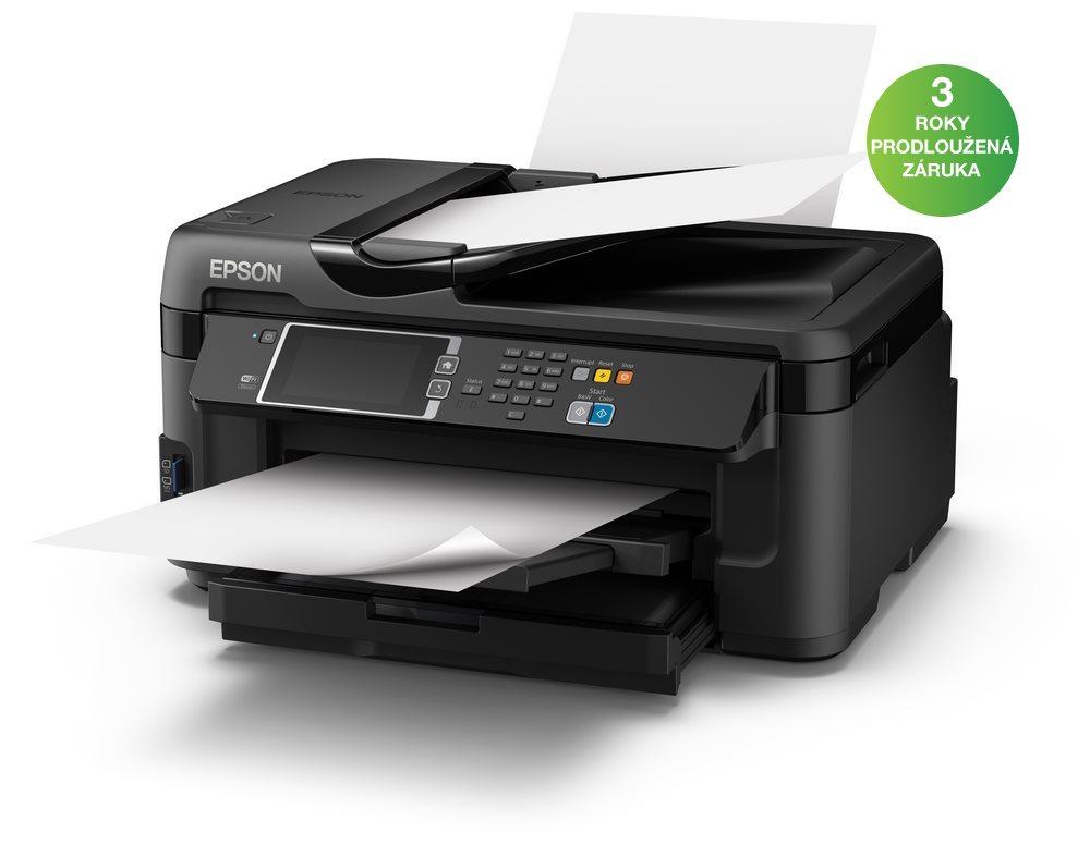 Multifunkční tiskárna EPSON WorkForce WF-7610DWF Barevná multifunkční inkoustová tiskárna, A3, ADF, 32 ppm, duplex, Fax, LAN, Wi-Fi, USB C11CC98302