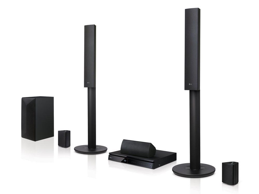 Domácí kino LG LHB645 Domácí kino, 3D, 5.1, BD/DVD/CD, fullHD, HDMI, USB, LAN, WL, BT LHB645