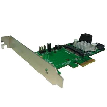 Řadič Kouwell PE-127 Řadič, RAID, PCI-E, 3x SATA, 1x mSATA, Low profile PE-127