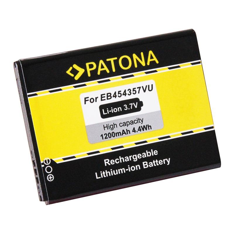 Baterie PATONA kompatibilní se Samsung EB454357VU Baterie, pro mobilní telefon Samsung Galaxy Pocket GT-S5300, Galaxy Pocket Plus GT-S5301, Galaxy Young Y GT-S5360, GT-S5360, GT-S5368, GT-S5369, 1200m PT3107