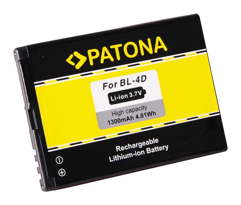 Baterie PATONA kompatibilní s Nokia BL-4D Baterie, pro mobilní telefon Nokia E5, E7–00, N8, N97 Mini, 1300mAh, 3,7V, Li-Ion PT3112