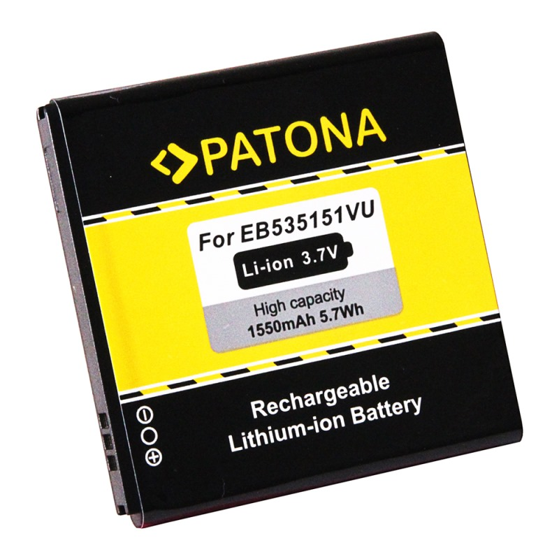 Baterie PATONA kompatibilní se Samsung EB535151VU Baterie, pro mobilní telefon Samsung Galaxy S Advance, GT-i9070, 1550mAh, 3,7V Li-Ion PT3116