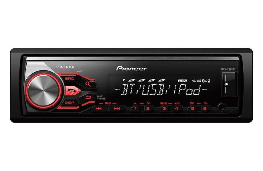 Autorádio PIONEER MVH-X380BT Autorádio, D4Q RDS FM tuner, USB, MP3, WMA/WAV, iPod podpora, 4x 50W MVH-X380BT