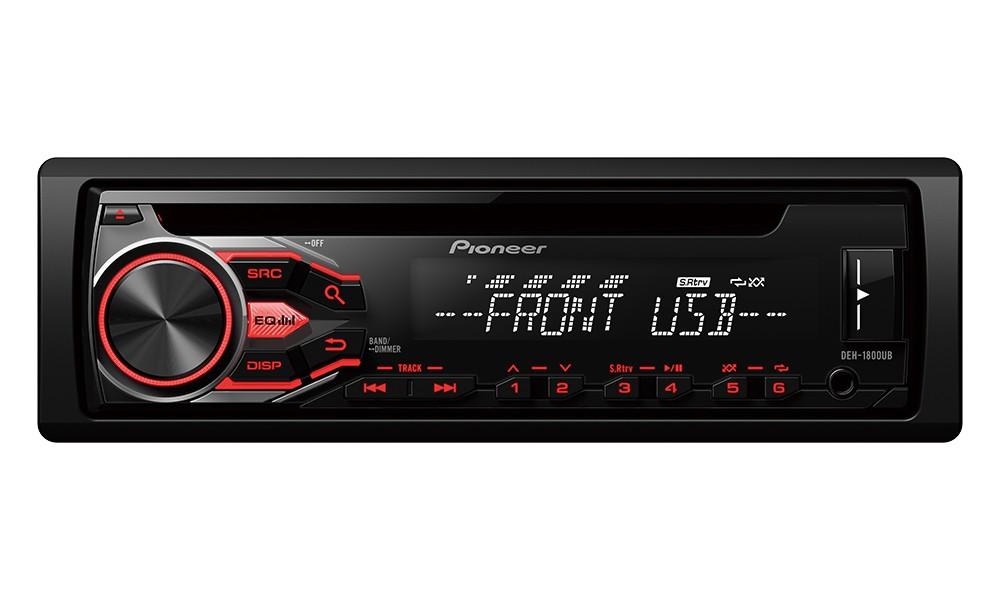 Autorádio PIONEER DEH-1800UB Autorádio, D4Q RDS FM tuner, USB, MP3, WMA/WAV, iPod podpora, 4x 50W DEH-1800UB