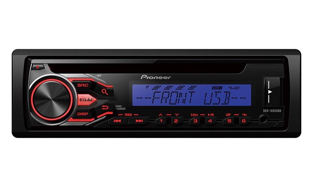 Autorádio PIONEER DEH-1800UBB Autorádio, D4Q RDS FM tuner, USB, MP3, WMA/WAV, iPod podpora, 4x 50W DEH-1800UBB