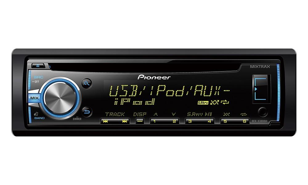 Autorádio PIONEER DEH-X3800UI Autorádio, D4Q RDS FM tuner, USB, MP3, WMA/WAV, Android, MIXTRAX, iPod podpora, 4x 50W DEH-X3800UI