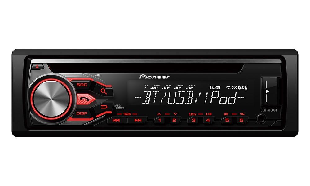 Autorádio PIONEER DEH-4800BT Autorádio, D4Q RDS FM tuner, USB, Bluetooth, MP3, WMA/WAV, iPod podpora, 4x 50W DEH-4800BT