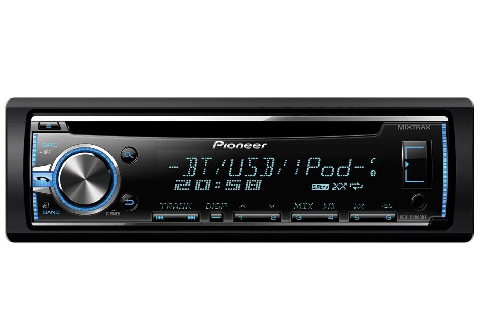 Autorádio PIONEER DEH-X5800BT Autorádio, D4Q RDS FM tuner, USB, Bluetooth, MP3, WMA/WAV, iPod podpora, 4x 50W DEH-X5800BT