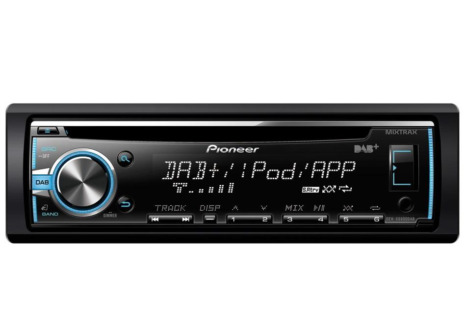 Autorádio PIONEER DEH-X6800DAB Autorádio, D4Q RDS FM tuner, USB, MP3, WMA/WAV, iPod podpora, MIXTRAX, 4x 50W DEH-X6800DAB