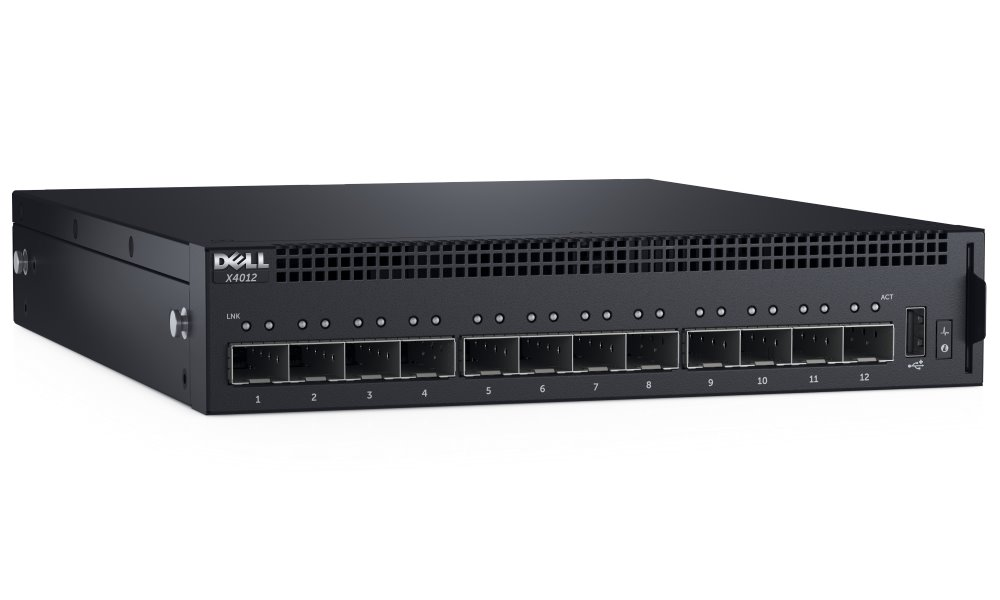Switch DELL Networking X4012 Switch, 12x 10 Gbit SFP+ port, Web smart management, NBD on-site 210-AEOQ