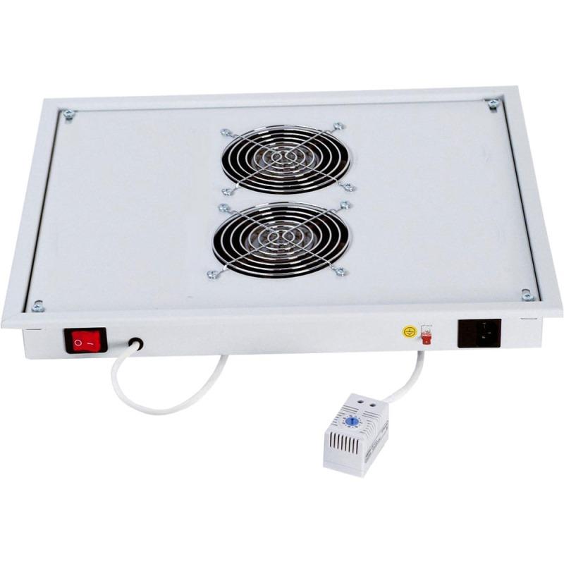 Ventilační jednotka Triton RAC-CH-X03-X3 Ventilační jednotka, horní/spodní, 220V, 30W, 2 x ventilátor, termostat, šedá RAC-CH-X03-X3