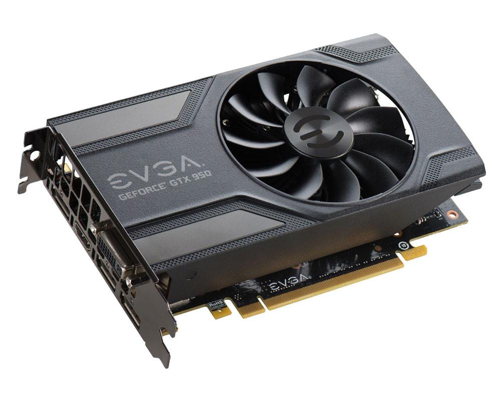 Grafická karta EVGA GeForce GTX 950 SC 2GB Grafická karta, PCI-E, 2048MB GDDR5, DVI, 3x DP, HDMI 02G-P4-2951-KR