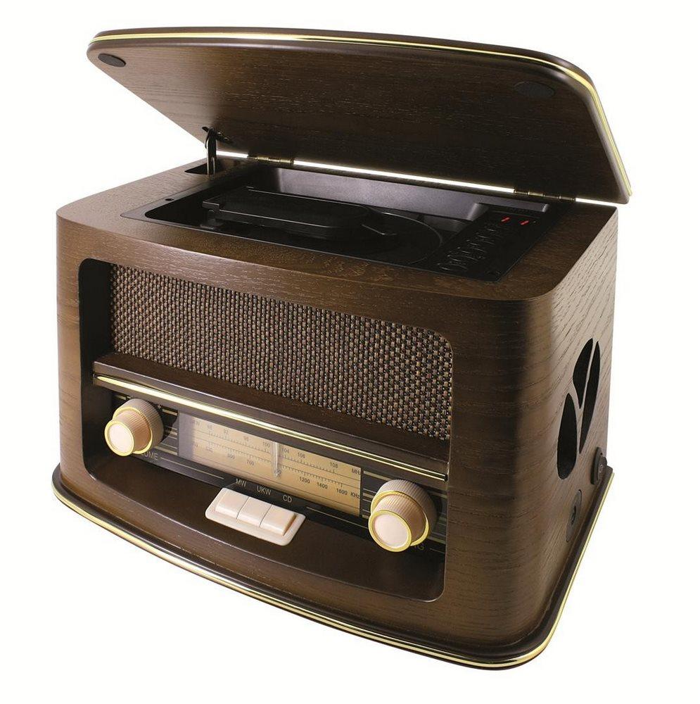 Rádio Soundmaster NR975 Rádio, AM/FM, CD-RW, retro design, dřevěné NR975
