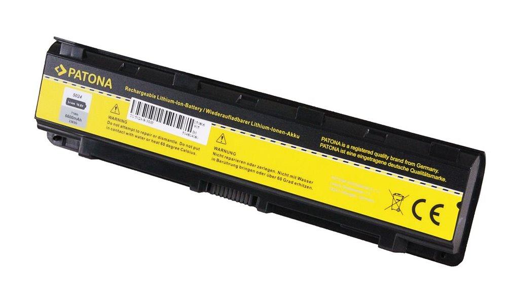 Baterie PATONA pro Toshiba 6600mAh Baterie, pro notebook Toshiba Satellite C50, 6600mAh, Li-Ion, 11.1V PT2363