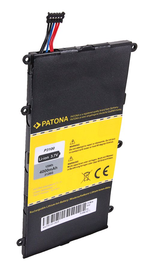 Baterie PATONA pro Samsung 4000mAh Baterie pro tablet PC Samsung Galaxy Tab, 4000mAh, 3.7V, Li-Ion PT3126