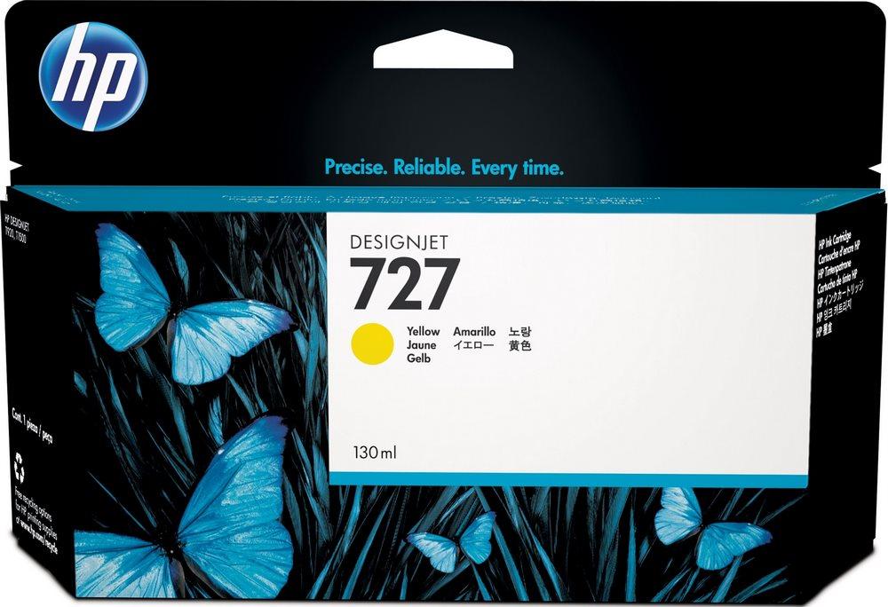 Inkoustová náplň HP 727 (B3P21A) žlutá Inkoustová náplň, originální, pro HP T1500, T920, T2500, žlutá