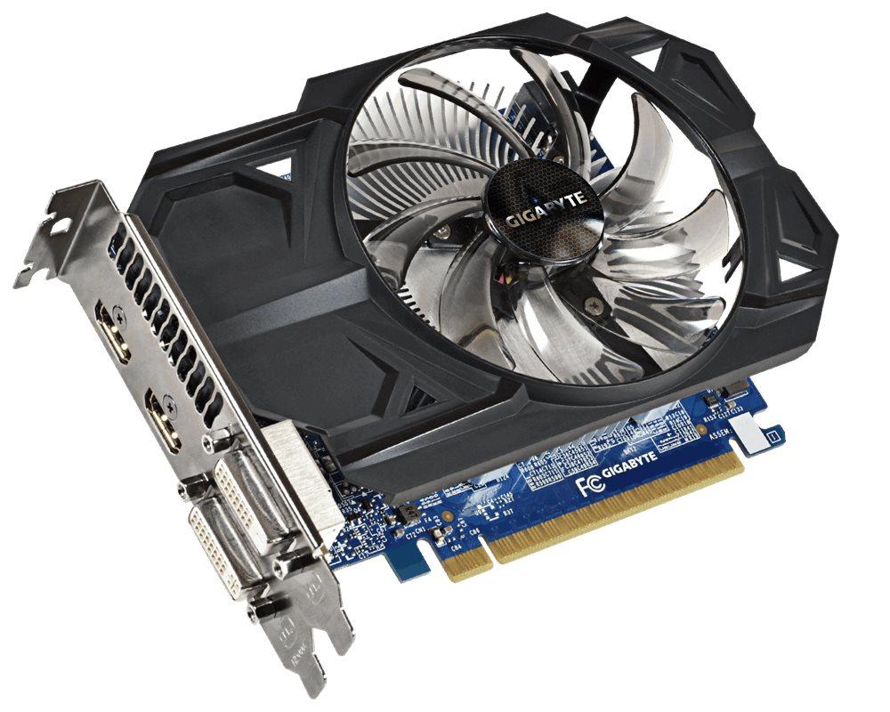 Grafická karta GIGABYTE nVIDIA GTX750 TI 1GB Grafická karta, PCI-E, GDDR5, 2xHDMI, 2xDVI, active Overclock GV-N75TOC-1GI