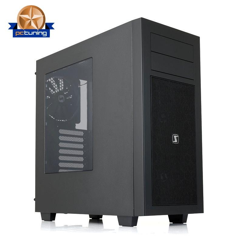 Skříň SilentiumPC Aquarius M60W Skříň, MiddleTower, 3x140mm ventilátory, USB2.0+USB3.0, bez zdroje, černá SPC127