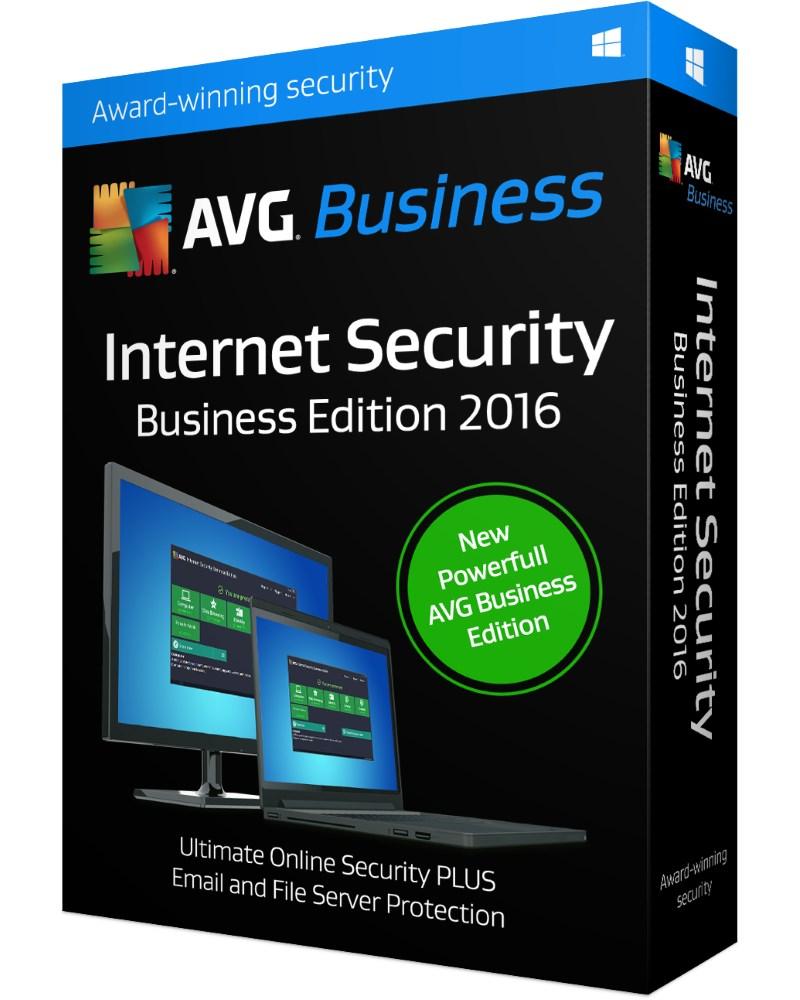 Antivir AVG Internet Security BE 2016 EDU Antivirový software, prodloužení Key AVG Internet Security Business Edition 2016 EDU 5 PC 1 rok email ISEEE12EXXK005