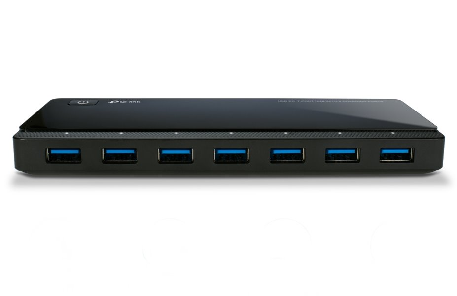 USB Hub TP-LINK UH720 USB Hub, 7 portů USB 3.0, 2 porty pro nabíjení 2.4A max UH720