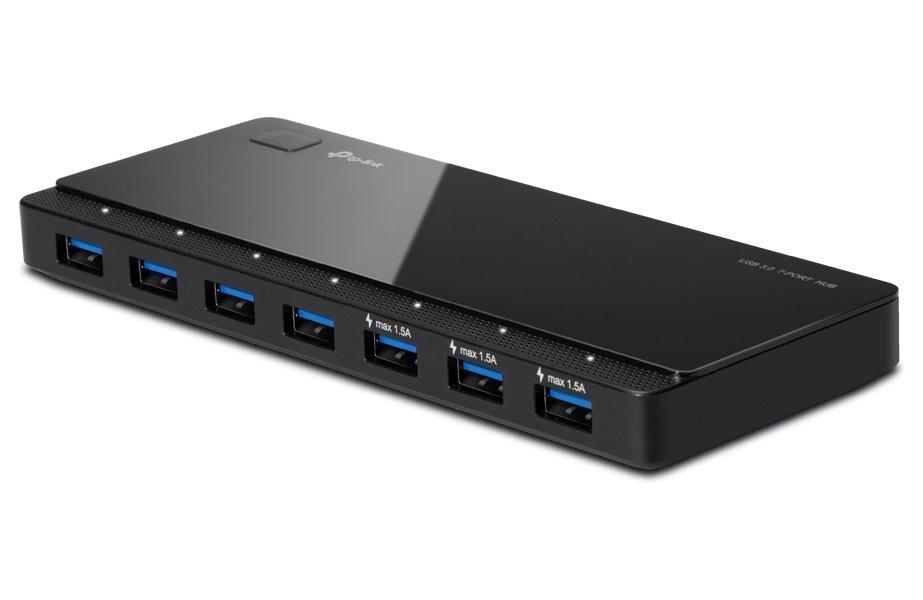 USB Hub TP-LINK UH700 USB Hub, 7 portů USB 3.0, černý UH700