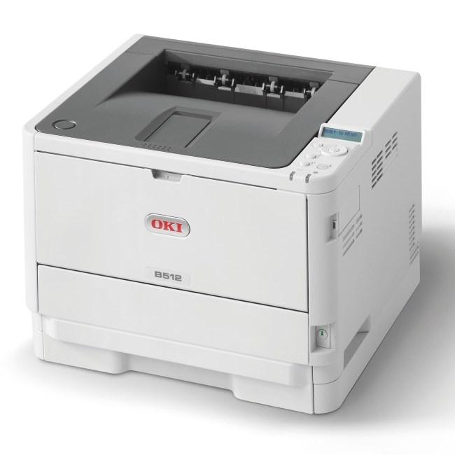 Laserová tiskárna OKI B512dn Černobílá laserová tiskárna, A4, 1200x1200, 45 str/min, USB 2.0, PCL6+PS3, duplex, LAN