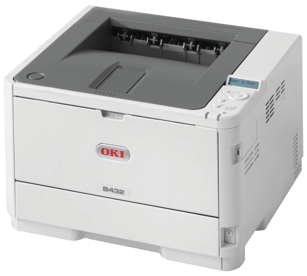 Laserová tiskárna OKI B432dn Černobílá laserová tiskárna, LED, A4, 1200x1200, 40 ppm, USB 2.0, PCL6+PS3, duplex, síť 45762012