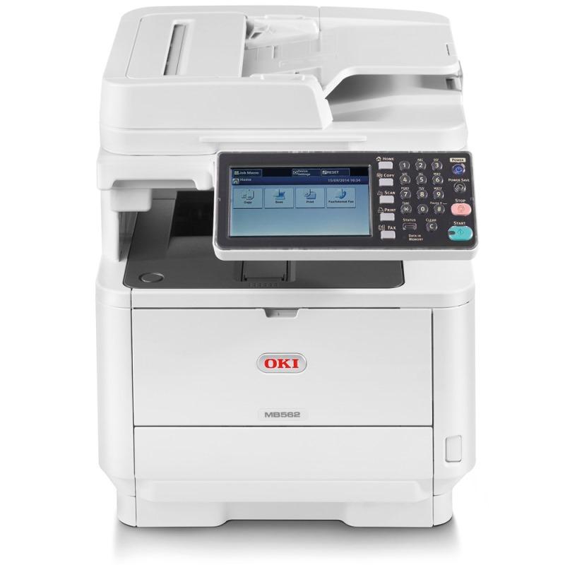 Multifunkční tiskárna OKI MB562dnw Černobílá multifunkční laserová tiskárna, LED, A4, 45 ppm, 1200x1200x dpi, RADF, PCL+PS3, USB2.0, LAN, Wifi, Duplex 45762122