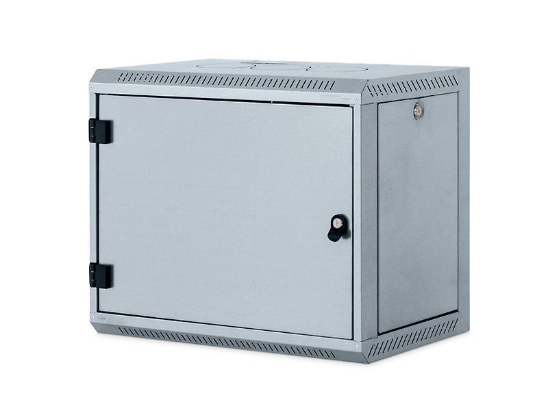Nástěnný rozvaděč Triton 19 12U Nástěnný rozvaděč, jednodílný, 12U, 400mm, odnímatelné boční kryty, plechové dveře, zinek RUA-12-CS4-ZAX-A1