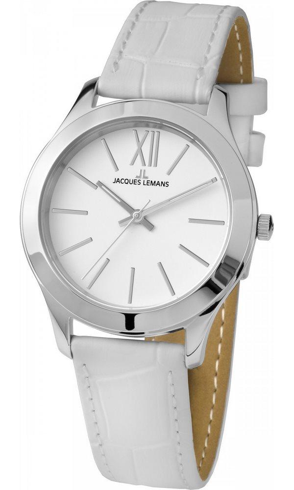 Analogové hodinky Jacques Lemans Rome 1-1840B Analogové hodinky, módní, dámské, vodotěsné, kožený řemínek 1-1840B