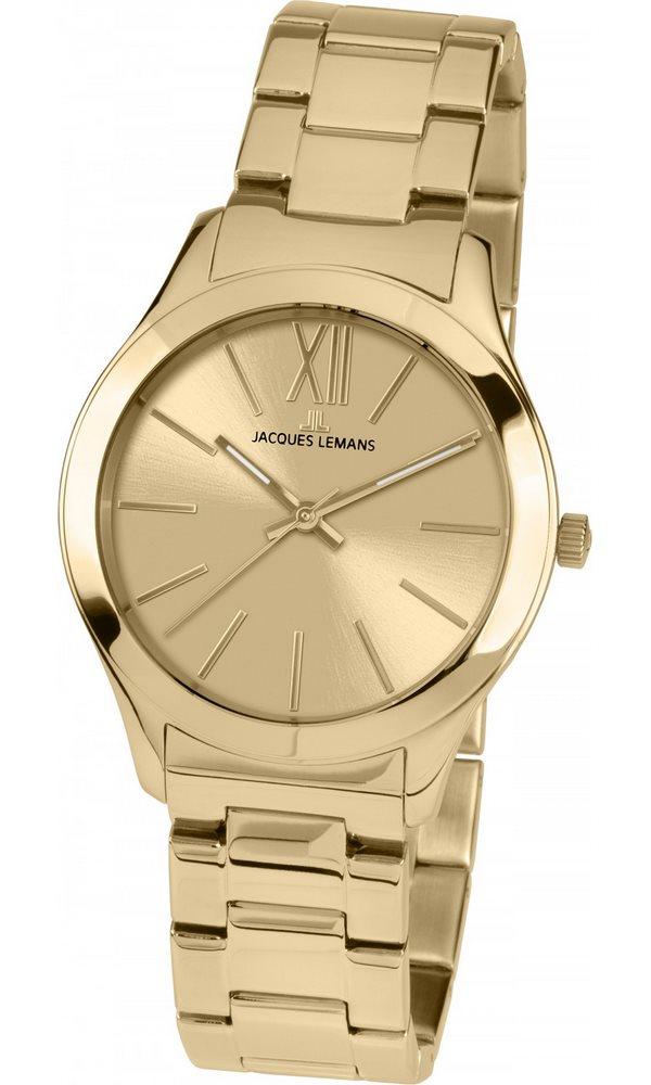 Analogové hodinky Jacques Lemans Rome 1-1840G Analogové hodinky, módní, dámské, vodotěsné, ocelový řemínek 1-1840G