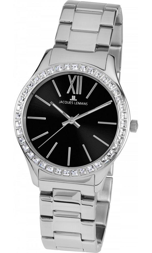 Analogové hodinky Jacques Lemans Rome 1-1841E Analogové hodinky, módní, dámské, vodotěsné, ocelový řemínek 1-1841E