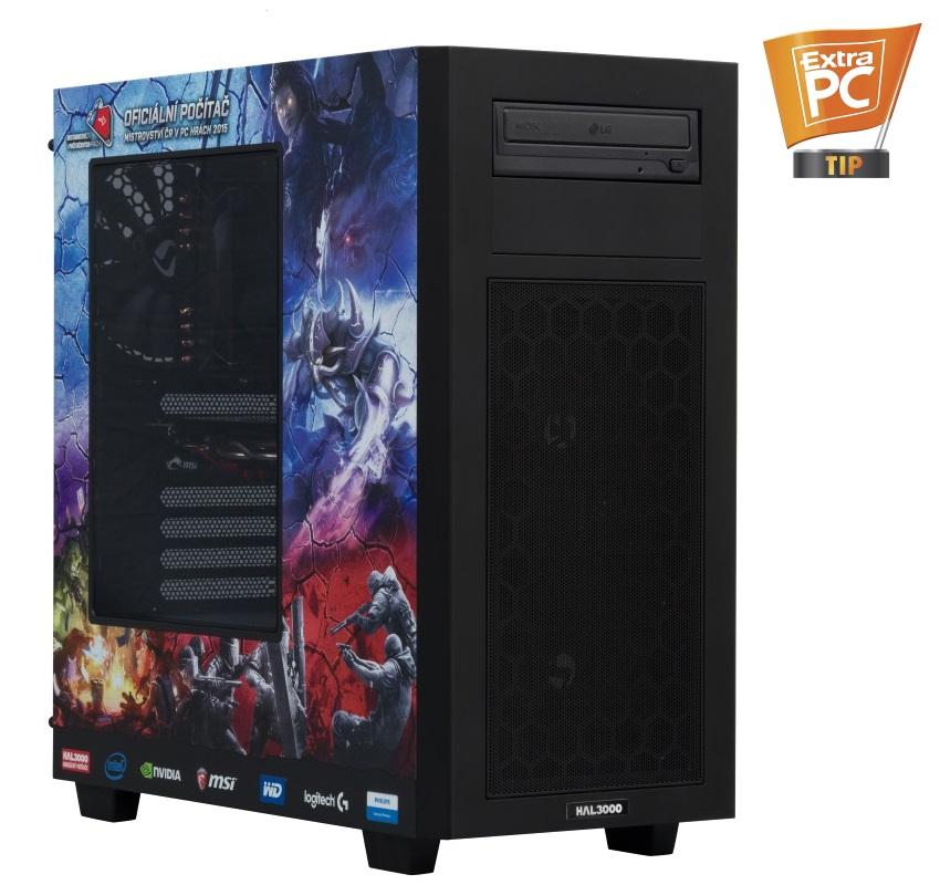 HAL3000 Herní sestava MČR Pro 2016 W10 Počítač, Intel i5-6500, 16GB, 120GB SSD + 1TB, GTX 960, DVD, W10 PCHS2073