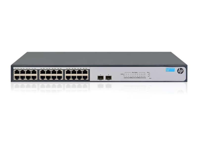 Switch HP 1420 Switch, 24x 10/100/1000 + 2x 1G SFP, bez managementu, rack JH017A