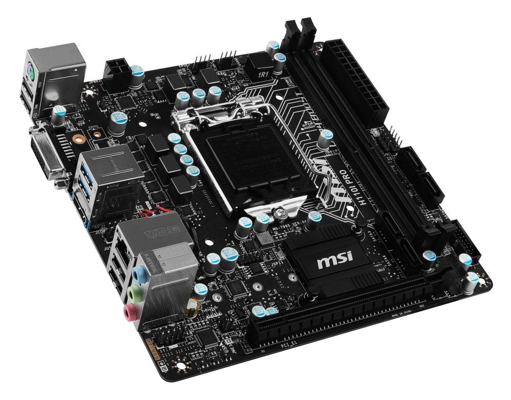 Základní deska MSI H110I PRO Základní deska, Intel H110, LGA1151, DDR4, Mini-ITX H110I PRO